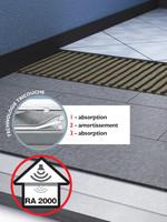 Système d'isolation phonique sous carrelage en plaques